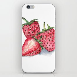 Watercolour Strawberries iPhone Skin