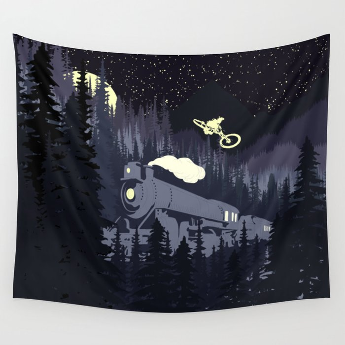 Over The Train Wall Tapestry