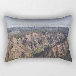 Mountain Valley Canyon - Kauai, Hawaii Rectangular Pillow