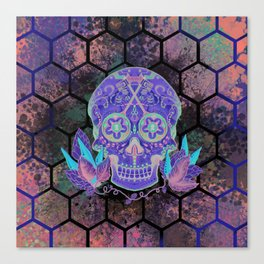 Sugar Skull Dark Side Canvas Print