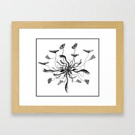 growing flower Framed Art Print