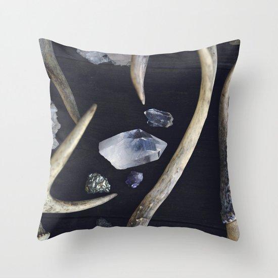 Stag & Stone Throw Pillow