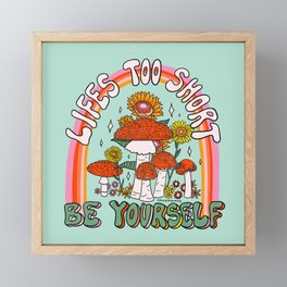Lifes Too Short Framed Mini Art Print