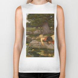 John William Waterhouse - Echo and Narcissus Biker Tank