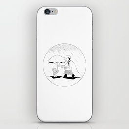 "BTS: ""when it rains, i get a feeling that i do have a friend"" iPhone Skin"