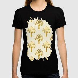 Cream Gold Foil 02 T-shirt