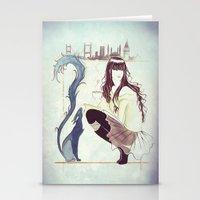 istanbul Stationery Cards featuring Istanbul by Nila Dedeoglu