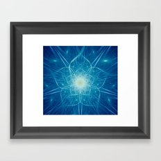 Beautiful Intricate Digital Flower Framed Art Print