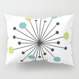 Atomic Age Nuclear Motif — Mid Century Modern Pillow Sham