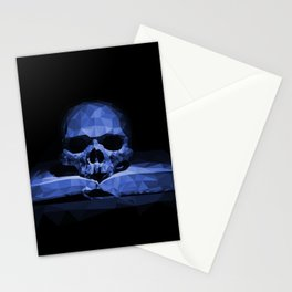 Memento mori - abyss blue Stationery Cards