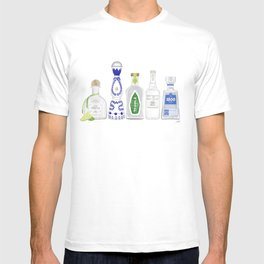 Tequila Bottles Illustration T-shirt
