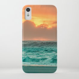 Turquoise Ocean Pink Sunset iPhone Case