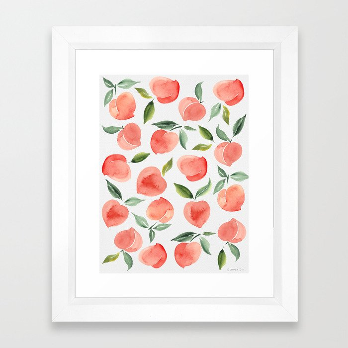peaches Framed Art Print