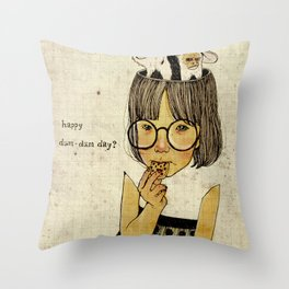 Happy April 1 st! Throw Pillow