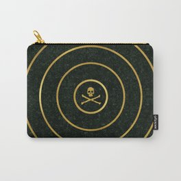 Gold Skull Target Carry-All Pouch