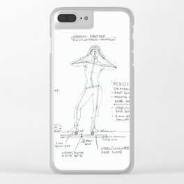 Pensive Drawing, Transitions through Triathlon Clear iPhone Case