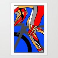 tour de france Art Prints featuring Tour de France Legs by Sassan Filsoof