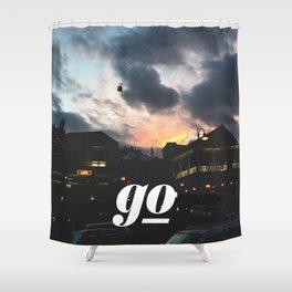 Go // #TravelSeries Shower Curtain