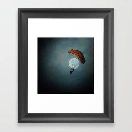 Skydiver's Moon Framed Art Print