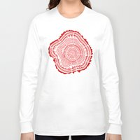 tree rings Long Sleeve T-shirts featuring Red Tree Rings by Cat Coquillette