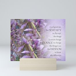 Serenity Prayer Wisteria Mini Art Print