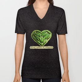 Give Peas a Chance Unisex V-Neck