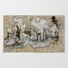Cottbus Monument Skyline Illustration by carographic, Carolyn Mielke Rug