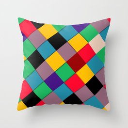 fool color pattern  Throw Pillow