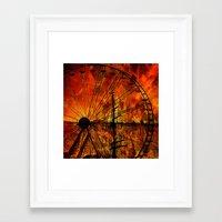 ferris wheel Framed Art Prints featuring Ferris wheel by  Agostino Lo Coco