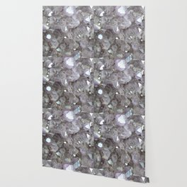 Sparkling Clear Light Purple Amethyst Crystal Stone Wallpaper