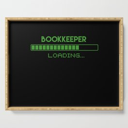 Bookkeeper Loading Serving Tray
