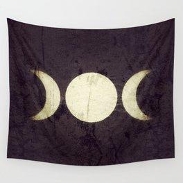 Triple Moon Goddess Wall Tapestry