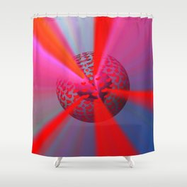 Radiant Love Shower Curtain