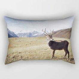 FRIENDLY DEER ON THE MOUNTAIN Rectangular Pillow