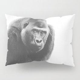 Silverback Gorilla (black + white) Pillow Sham