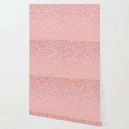 Rose Gold Glitter Cascade Wallpaper