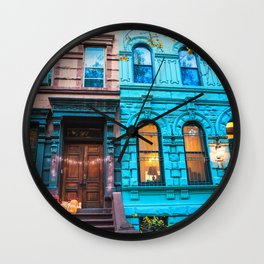 New York City Colors Wall Clock