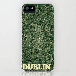 Dublin Street Map iPhone Case