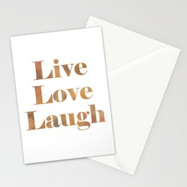 Live Love Laugh Stationery Cards