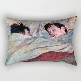 """Henri de Toulouse-Lautrec """"The Bed"""" Rectangular Pillow"""
