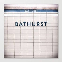 Bathurst Station Toronto Subway Sign Canvas Print