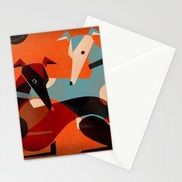 GREYHOUND PAIR Stationery Cards