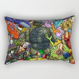 Retro Toy Box Rectangular Pillow