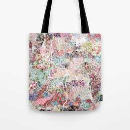 Toulouse map Tote Bag