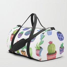 Watercolor Cactus + Succulents Duffle Bag