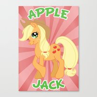 mlp Canvas Prints featuring MLP FiM: Applejack by Yiji