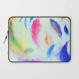 Feathers in the Wind Laptop Sleeve