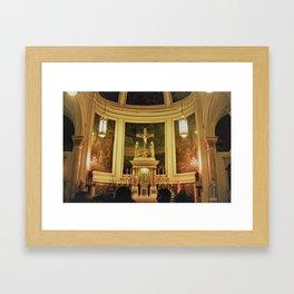 Yellow Church Framed Art Print