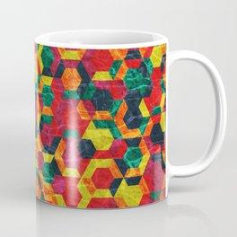 Colorful Half Hexagons Pattern #08 Coffee Mug