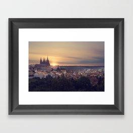 Sunrise in Prague Framed Art Print